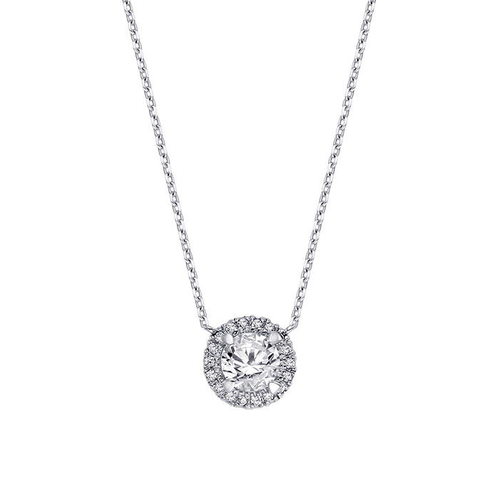 셀리나Necklace (0.30ct, sv dia 16개)